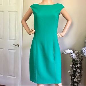 Michael Kors 96% Virgin Wool Women's Emerald Dress